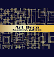 art deco seamless pattern set vintage background vector image
