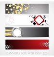 Banners for web collection10 vector image vector image