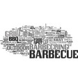 bbq safety tips text word cloud concept vector image vector image