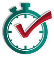 best time symbol on white background flat vector image vector image