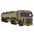 Big military tank truck vector image