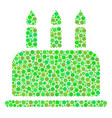 birthday cake collage of dots vector image