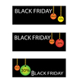 Black Friday Sale Banner with Percentages Discount vector image vector image