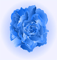 Blue rose flower simple symbol of love vector image vector image