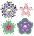 bright beautiful floral decorations in different vector image vector image