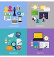 Business steps concept flat vector image vector image