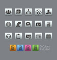 business technology icons - satinbox series vector image vector image