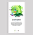 chemistry subject in school university discipline vector image