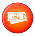 Circus show tickets icon flat style vector image vector image