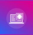 computer bug icon vector image