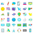 computer mouse icons set cartoon style vector image vector image