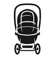covered stroller front view icon simple style vector image vector image