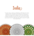 Creative Indian Independence Day concept with vector image vector image