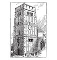 earls-barton saxon tower vintage vector image vector image