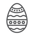 easter egg line icon decoration and easter vector image
