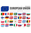 european union eu flag and country membership vector image vector image