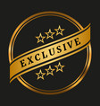 exclusive quality label vector image vector image