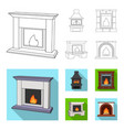 Fire warmth and comfort fireplace set collection