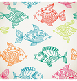 Fish pattern in abstract style vector image vector image