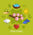 flat spring easter concept vector image
