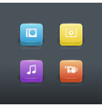 Gradient buttons set vector image vector image