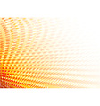 graphic of dots in orange color vector image vector image