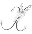 hand drawn floral x monogram and logo vector image vector image