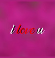 i love you love quote with modern background vector image