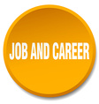 job and career orange round flat isolated push vector image vector image