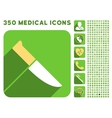 Knife Icon and Medical Longshadow Icon Set vector image vector image