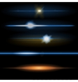 Lens flares orange and blue vector image vector image