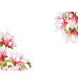 magnolia flower festive elegant card vector image vector image