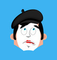 mime bewildered emotion avatar pantomime at a vector image