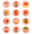 Modern Flat Love Symbols vector image vector image