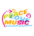 music lettering musical typography graphic vector image
