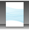 New folder template - blue lines frame vector image vector image