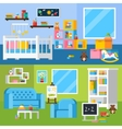 Nursery Room Cartoon Horizontal Banners vector image vector image