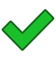 Ok Toolbar Icon vector image vector image