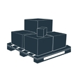 pallet box transportation packing crate loading vector image vector image