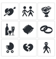 peoples lives icons set vector image vector image