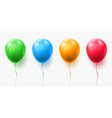 realistic red orange green and blue balloon vector image vector image