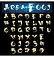 Scroll Brush Alphabet vector image vector image