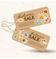 seasonal price tags light concept vector image