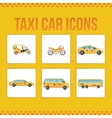 Set of taxi icons for web sites presentations vector image vector image