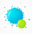 splashes - splatters blue and green blots vector image vector image