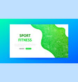 sport fitness landing page vector image vector image