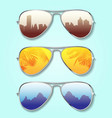 summer glasses background vector image