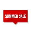 summer sale red tag vector image vector image