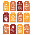 tags with lettering and vector image vector image