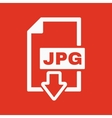 The JPG icon File format symbol Flat vector image